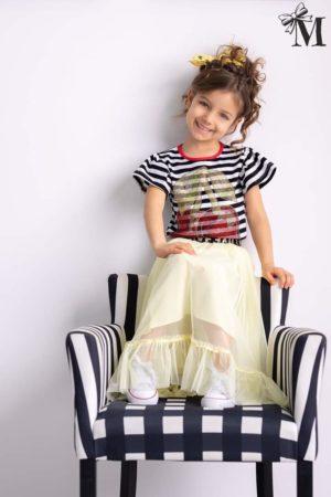 Bluzka dla dziewczynki w paski CHERRY