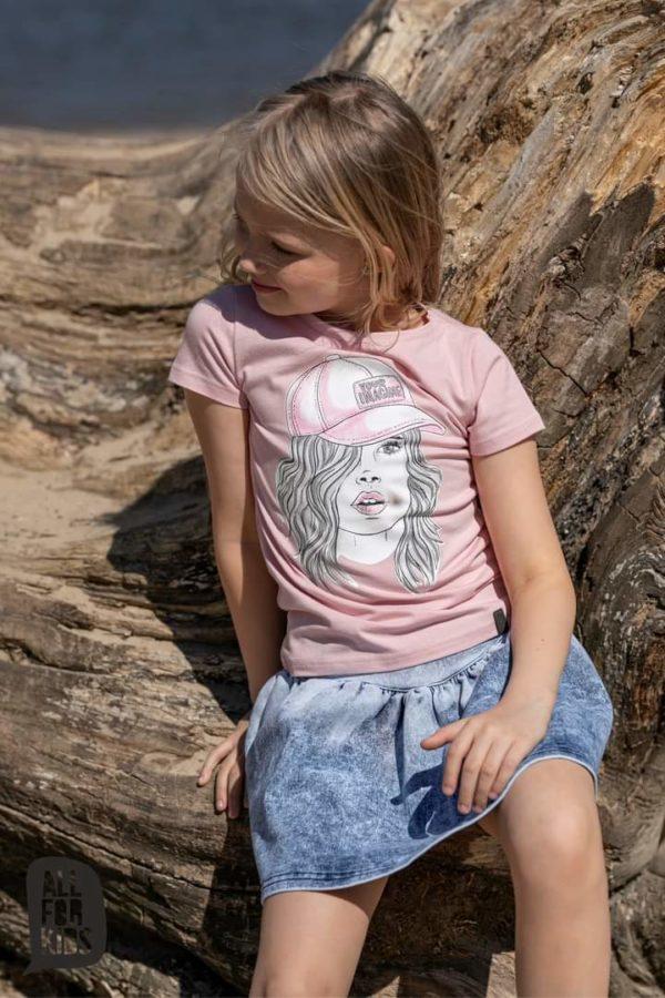 T-shirt dla dziewczynki różowy
