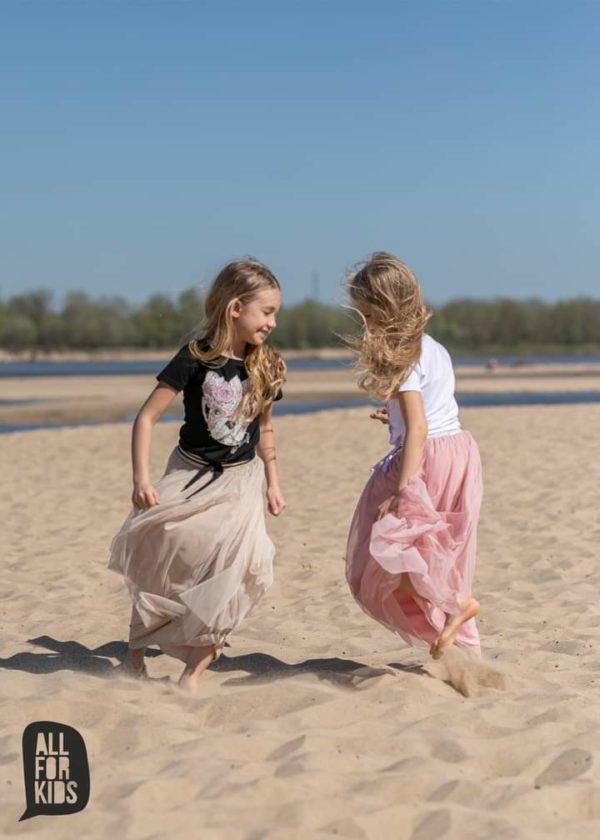 Długa spódnica dla dziewczynki All For Kids różowa