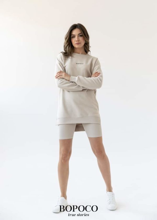 Damska bluza Bopoco długa beżowa Matchy-Matchy