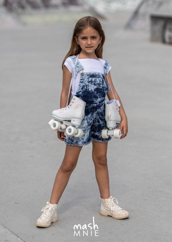 Jeansowe ogrodniczki dla dziewczynki Mashmnie