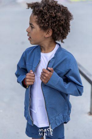 Bomberka dla chłopca niebieska Mashmnie