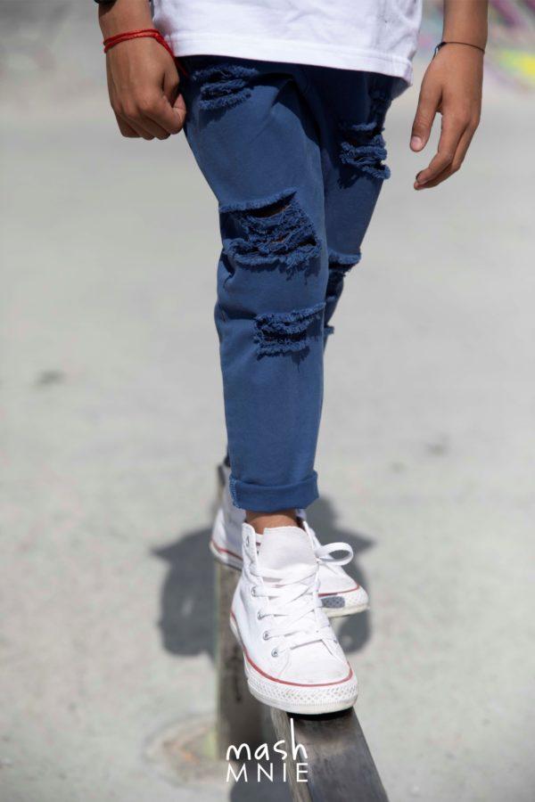 Spodnie Boyfriend dla chłopca Mashmnie niebieskie