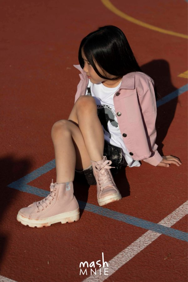 Różowa kurtka dla dziewczynki Mashmnie