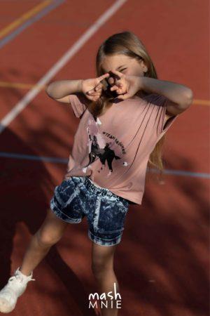 Krótkie spodenki jeansowe dla dziewczynki Mashmnie