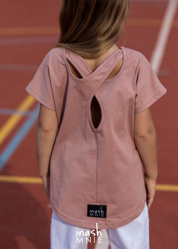 Różowa bluzeczka z Wycięciami Mashmnie