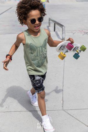 Szorty dla chłopca Ice Dye Mashmnie szare