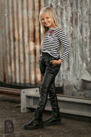 Skórzane spodnie dla dziewczynki All For Kids