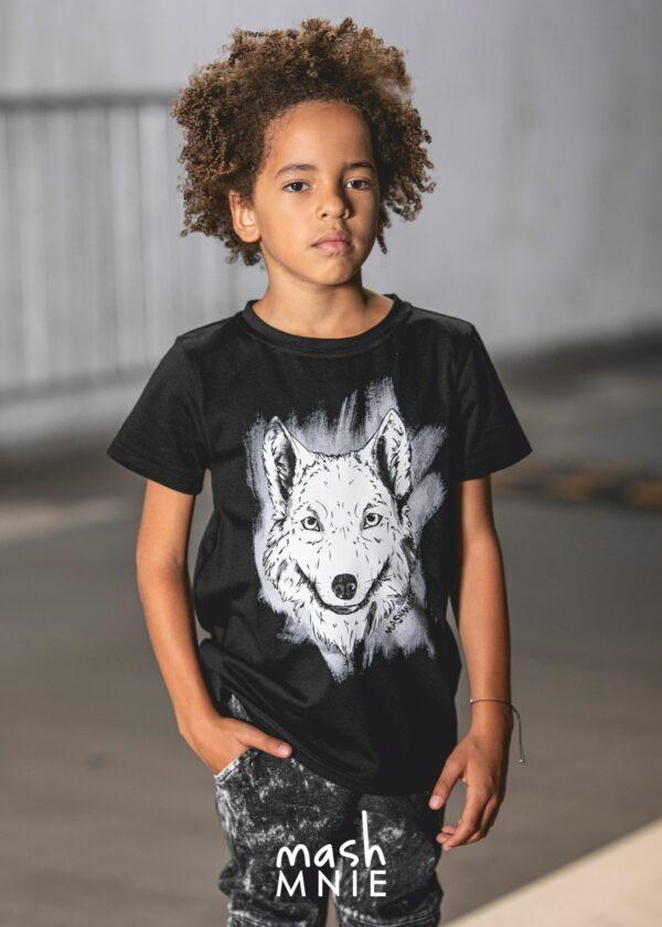 T-shirt dla chłopca Wolf Under the City Mashmnie