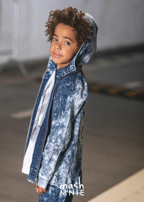 Chłopięce spodnie acid Mashmnie niebieskie