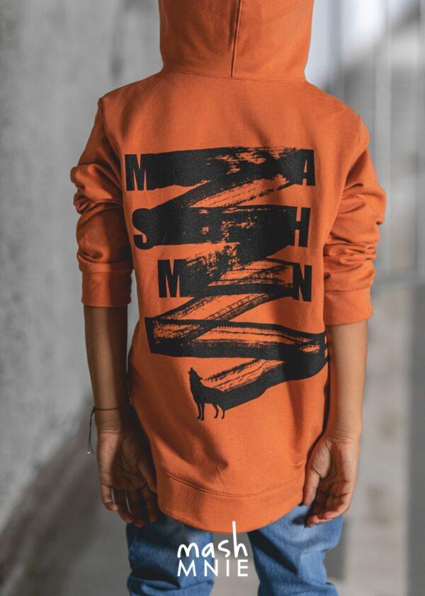 Bluza dla chłopca Brush pomarańczowa