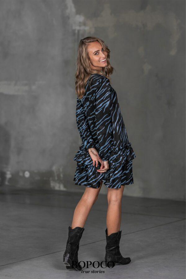 Sukienka Bopoco ZEBRA niebieska