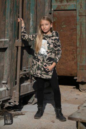 Bluza moro dla dziewczynki z kapturem
